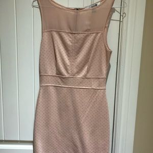 Forever 21 light pink with gold studs dress